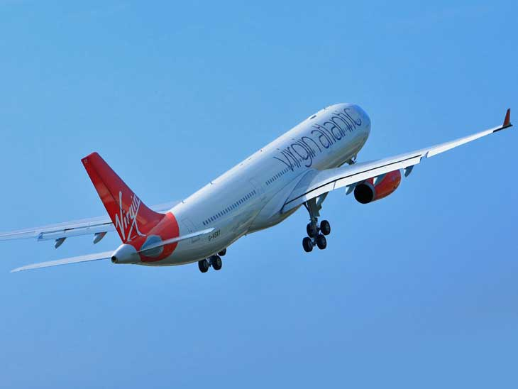Virgin Atlantic A330 taking off.